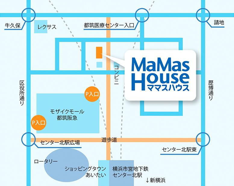 ママスハウスの地図